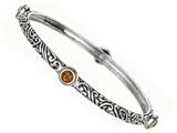 Phillip Gavriel 18K Yellow Gold and Sterling Silver Bangle With Four Citrine Gems Style #460073