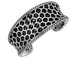 Sterling Silver Honeycomb Texturized Cuff Bangle Style #460108