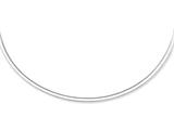 14kt Yellow and White Gold 18 Inch Bright Cut Reversible Omega Necklace with Box Catch Style #460203