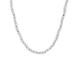 Sterling Silver Shiny Bright Cut Ladies Necklace Style #460411