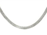 Sterling Silver Shiny Textured Necklace Style #460413