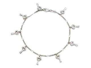 Sterling Silver 10 Inches 8 Keys Ankle Bracelet