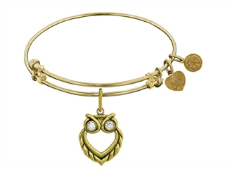 Brass With Yellow Finish Owl Angelica Collection Bangle For Angelica Collection Bangle