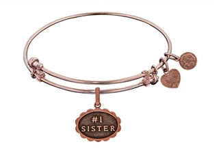Brass With Pink Finish #1 Sister Charm ForAngelica Bangle