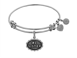 Brass With White Finish #1 Sister Charm For Angelica Bangle
