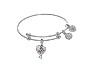 White Finish Expandable Tween Brass Bangle Paw Pri Nt On White Angelica Collection Tween Bangle
