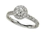 Diamond Round Engagement Ring Style #4992