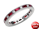 Karina B™ Genuine Ruby Eternity Band