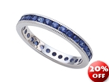 Karina B Genuine Sapphire Eternity Band With Millgrain