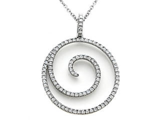 Karina B(tm) Diamond Fashion Wave Pendant