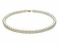 18 inch White Fresh Water Cultured Pearl Necklace 6-6.5 mm each