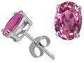 Tommaso Design(tm) Genuine Pink Tourmaline Oval Earrings Studs