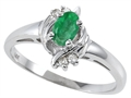 Tommaso Design(tm) Genuine Emerald Ring