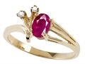 Tommaso Design(tm) Genuine Ruby and Diamond Ring