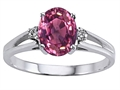 Tommaso Design(tm) Genuine Pink Tourmaline Ring