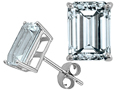 Tommaso Design(tm) Emerald Cut 7x5mm Genuine Aquamarine Earrings