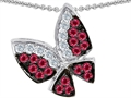 Original Star K(tm) Butterfly with Genuine Ruby and Diamond Pendant