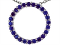 Tommaso Design(tm) 19mm. Circle Of Love Pendant made with Genuine Quality Sapphire