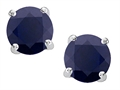 Original Star K(tm) Round 7mm Black Sapphire Earrings Studs