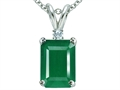 Tommaso Design(tm) Classic 7x5mm Emerald Cut Genuine Emerald Pendant