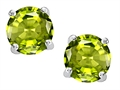 Original Star K(tm) Round Genuine Peridot Earrings Studs