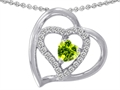 Original Star K(tm) Heart Shape Simulated Peridot Pendant