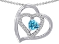 Original Star K(tm) 6mm Heart Shape Simulated Blue Topaz Pendant