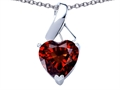Original Star K(tm) 7mm Heart Shape Simulated Garnet Ribbon Pendant