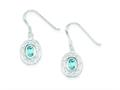 Sterling Silver Blue Topaz Fancy Dangle Earrings