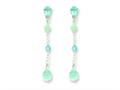 Sterling Silver Blue Topaz/amazonite/blue Crystal Earrings